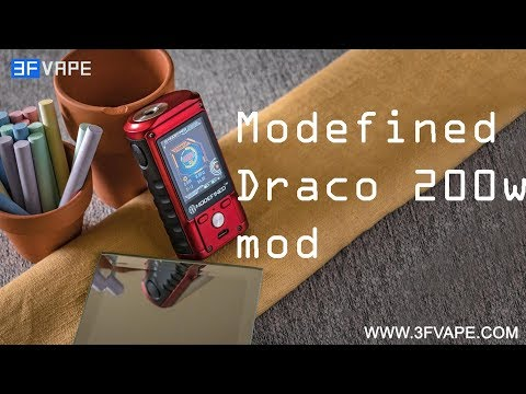 video Modefined Draco 200w Tc Box Mod