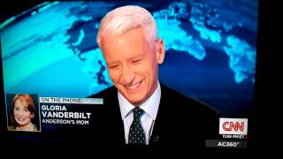 Anderson Cooper gets a call from his mom