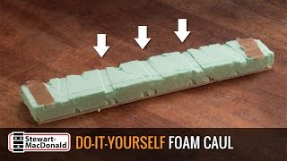 Watch the Trade Secrets Video, Custom-fit styrofoam clamping caul