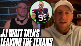 Pat McAfee Asks JJ Watt About Leaving The Texans For The Cardinals