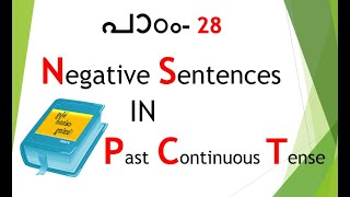 Spoken English in Malayalam - Past Continuous (Negative Sentences)