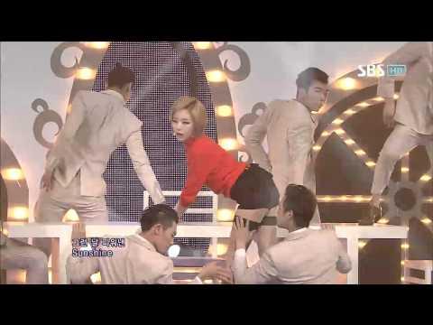 가인 [Tinkerbell / 피어나] @SBS Inkigayo 인기가요 20121007
