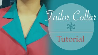 Tailor collar / Notched collar - tutorial, patterns, cutting, stitching- Cloud Factory