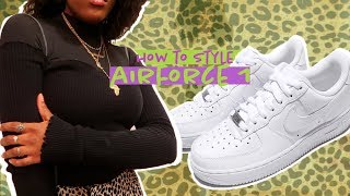 HOW TO LOOK CUTE AF THIS WINTER | HOW TO STYLE AIRFORCE 1's
