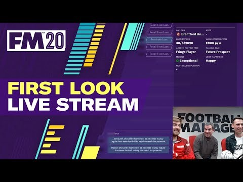 Football Manager 2020 | First Look Live Stream