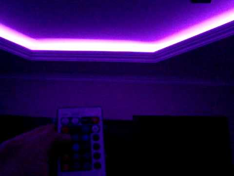 Rgb Led Light Strip Instaled On The Ceiling From My Living