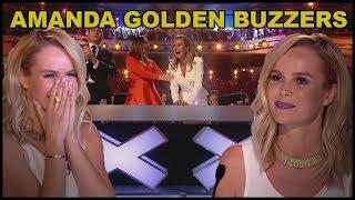 """Top 10 """"AMANDA HOLDEN's GOLDEN BUZZERS"""" and BEST MOMENTS EVER!"""
