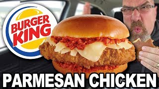 BURGER KING 🧀🍗 PARMESAN CHICKEN SANDWICH | Food Review
