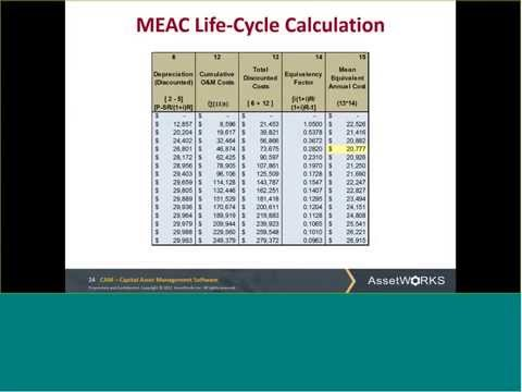 Determining Economic Life Cycle with CAM