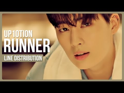 UP10TION - Runner (시작해) Line Distribution (Color Coded)