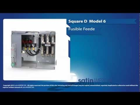 Square D Model 6 Fusible Disconnect Feeder Bucket