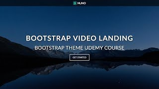 Full Screen Video Background Landing Page Website with HTML5, CSS3 & Bootstrap 4