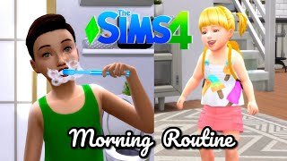 Sims 4 Family Kids Morning Routine with Baby Goldie - Titi Plus