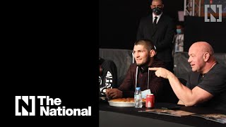 Dana White meets Khabib Nurmagomedov at UAE Warriors event