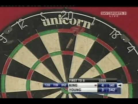 Mervyn King 4x 180s IN A ROW World Record