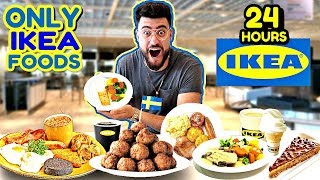 I ONLY ATE FOODS FROM IKEA FOR 24 HOURS ! (IMPOSSIBLE FOOD CHALLENGE)