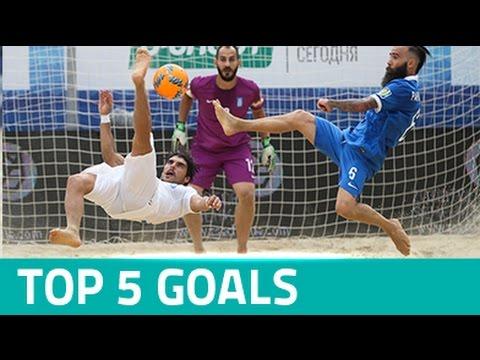 TOP 5 GOALS - EURO BEACH SOCCER LEAGUE MOSCOW 2016