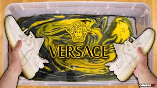 HYDRO Dipping Yeezys - VERSACE Custom Shoes (Crazy)