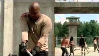 The Walking Dead T dogs death scene