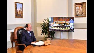 الرئيس-السيسي-يشارك-في-اجتماع-رؤساء-الدول-والحكومات-حول-المناخ-عبر-الفيديو-كونفرانس