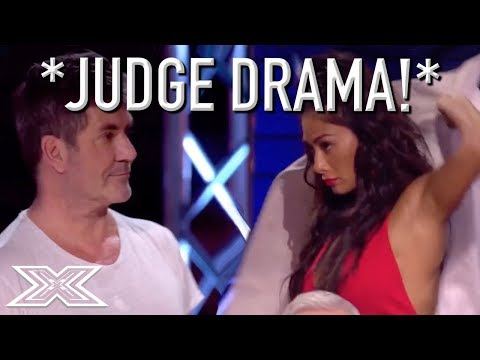 JUDGE STORMS OFF STAGE After Argument With Simon Cowell!