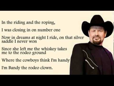 Moe Bandy Bandy The Rodeo Clown With Lyrics Youtube