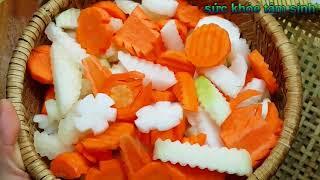 Cách muối DƯA MÓN món ăn ngày tết cổ truyền Việt Nam