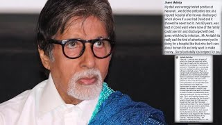 Big B responds to woman accusing him of 'advertising' for ..