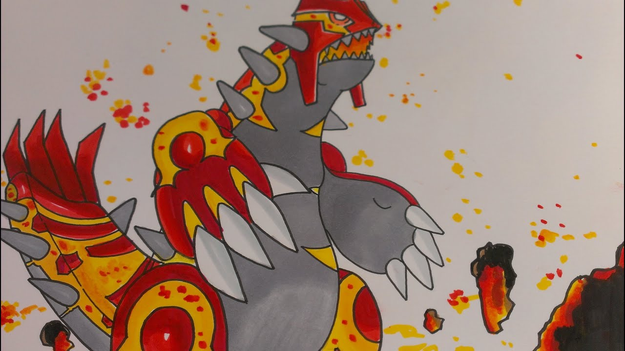 Drawing Legendary Pokemon Groudon Pokemon Omega Ruby