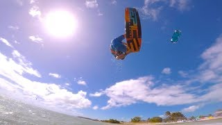 Father and Son kitesurfing in the Keys FL