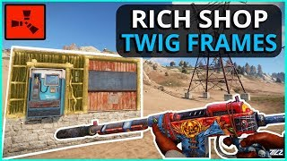 RICH SHOP Owner Forgot To UPGRADE His FRAMES!! Rust Solo Survival Gameplay