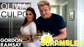 Olivia Culpo Tries To Beat Gordon Ramsay In A Breakfast Pizza Cookoff | Scrambled
