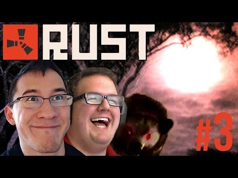 NIGHT HUNTS And BEAR WHUMPS   Rust Gameplay #3 - Smashpipe Games