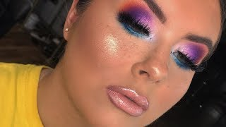 Blown Out Colourful Glam    Leighvi Nel Makeup