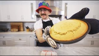 making cornbread is really easy