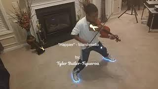 """Marshmello ft. Bastille - """"Happier"""" (violin cover) Tyler Butler-Figueroa, 11 years old"""