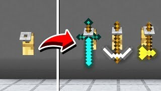 How to Make a WORKING TOOL RACK in Minecraft PE! (NO MODS!)