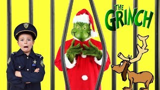 Christmas video Bad Grinch takes Santa's gear! silly funny kids video featuring The Assistant