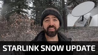 Starlink Snow Update + Speed Test + Cloud Cover Speed Test