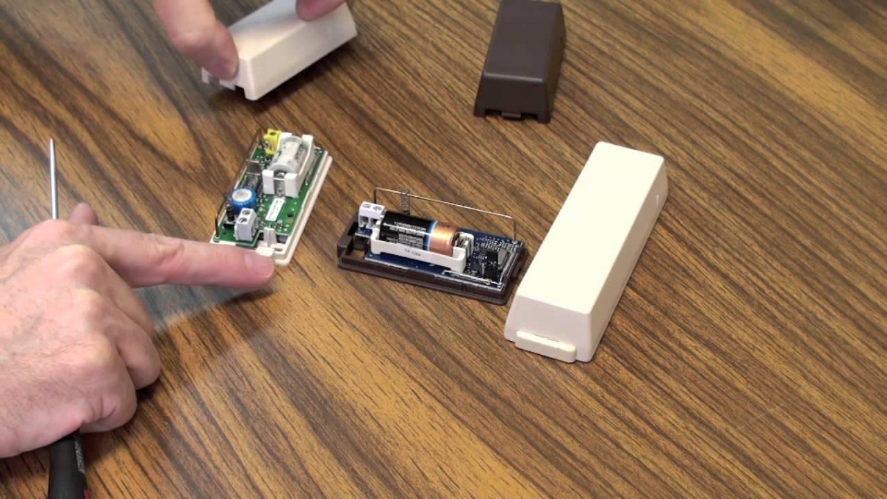 Standard Door And Window Sensor Battery Replacement Youtube