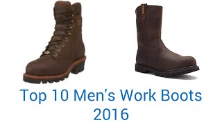 10 Best Men's Work Boots 2016