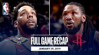 Full Game Recap: Pelicans vs Rockets | Okafor Records Season-High 27