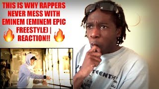 THIS IS WHY RAPPERS NEVER MESS WITH EMINEM (EMINEM EPIC FREESTYLE) | REACTION!!