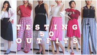Testing Best Dressed's (Ashley) 50 Outfits Video| I Almost Lost My Mind!