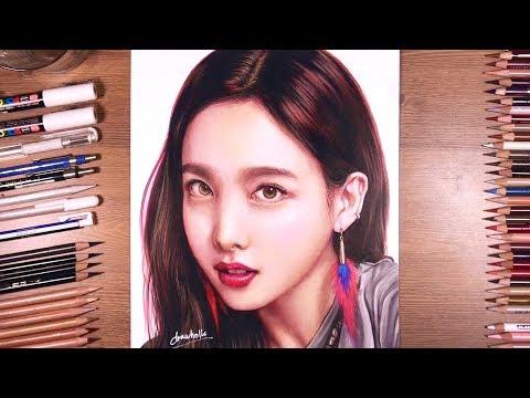 TWICE : Nayeon - Colored pencil drawing   drawholic
