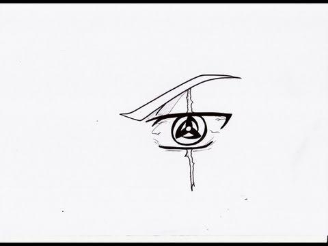 HOW TO DRAW KAKASHI 'S MANGEKYO SHARINGAN 神威 万華鏡写輪眼 - YouTube