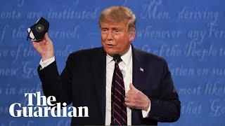 Trump mocks Biden during first presidential debate: 'I don't wear a mask like him'