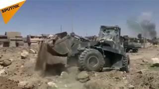 جرافات تحاصر quotداعشquot في أخر أوكاره بأيمن الموصل     -