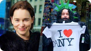 Emilia Clarke (Game of Thrones) Pranks Times Square as Jon Snow // Omaze