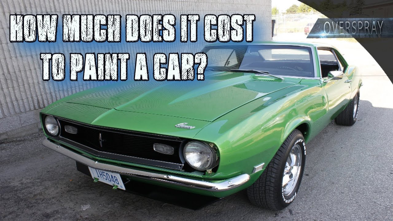 how much does it cost to paint a car youtube. Black Bedroom Furniture Sets. Home Design Ideas